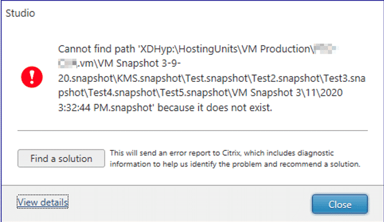 The Curious Case of VMware Snapshots with MCS in Citrix Cloud